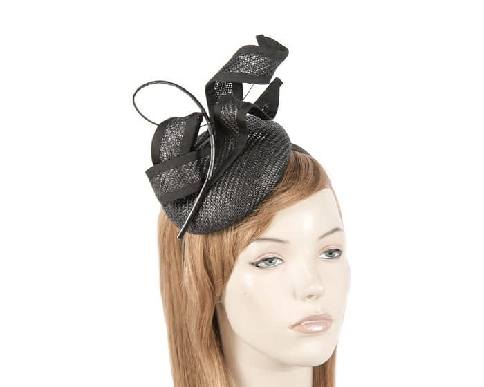 Tall black sculptured fascinator Fascinators.com.au