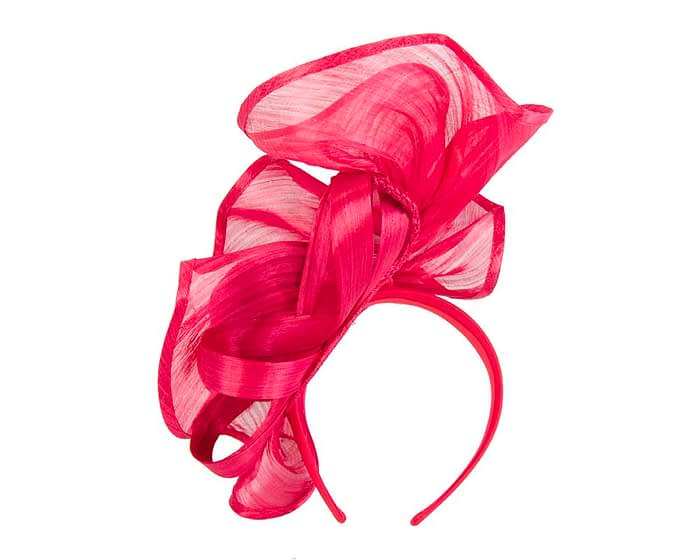 Exclusive red silk abaca racing fascinator Fascinators.com.au