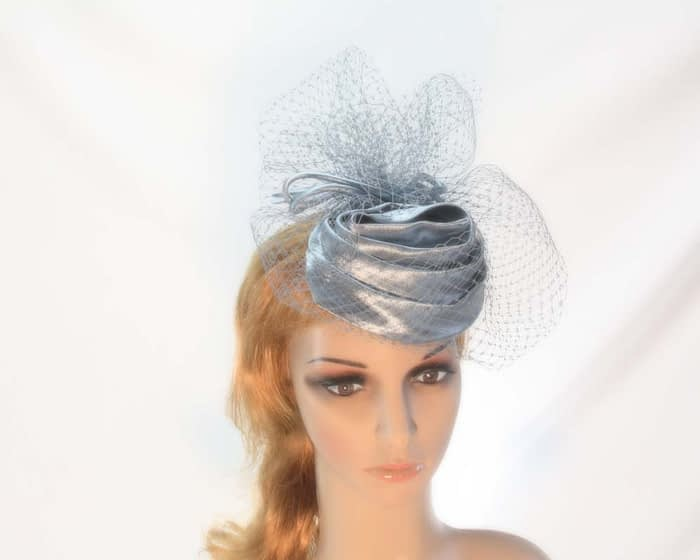 Silver cocktail hats K4801S Fascinators.com.au