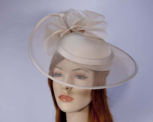 Beige fashion hat H835BE Fascinators.com.au