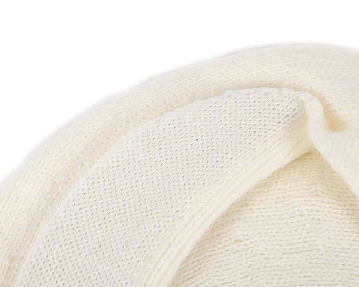 Classic warm cream wool beaked cap. Made in Europe Fascinators.com.au