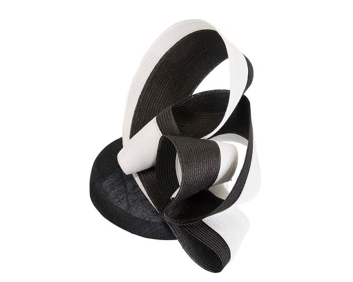Designers black & white pillbox racing fascinator by Fillies Collection Fascinators.com.au