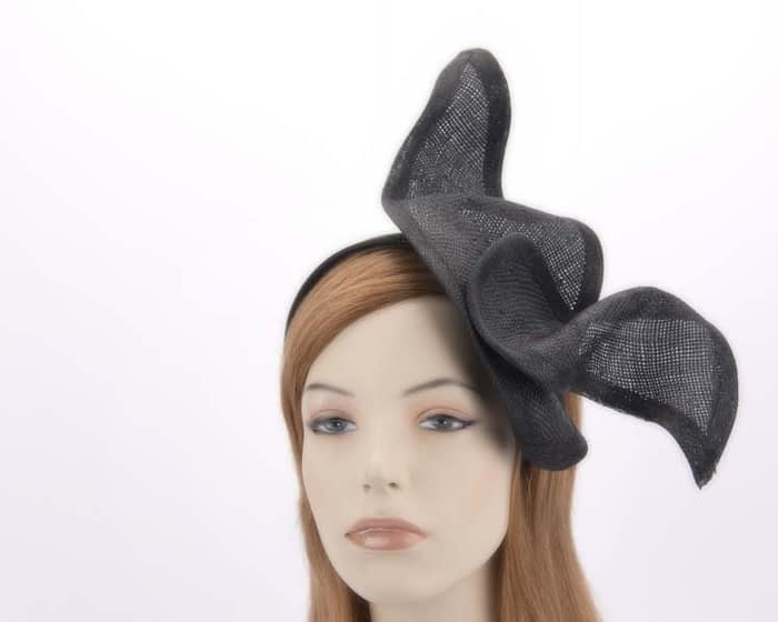 Black designer racing fascinator MA658B Fascinators.com.au