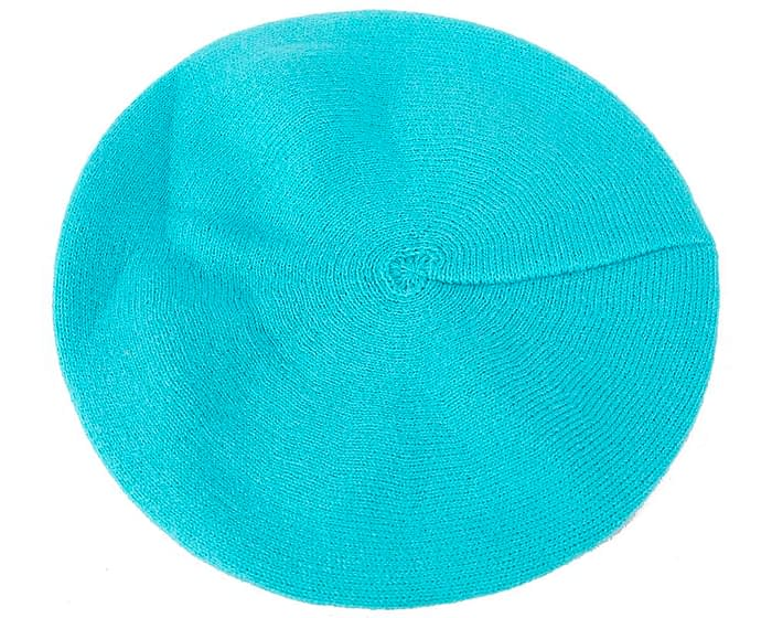 Classic warm turquoise wool beret. Made in Europe Fascinators.com.au