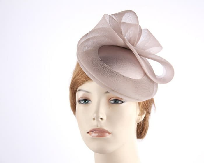 Taupe cocktail hats K4691T Fascinators.com.au