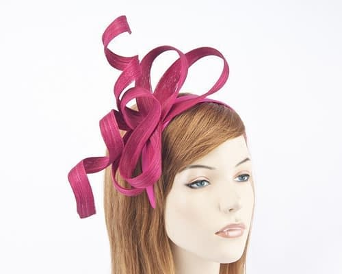 Australian made fuchsia Fillies Collection racing fascinator for Melbourne Cup S169F Fascinators.com.au