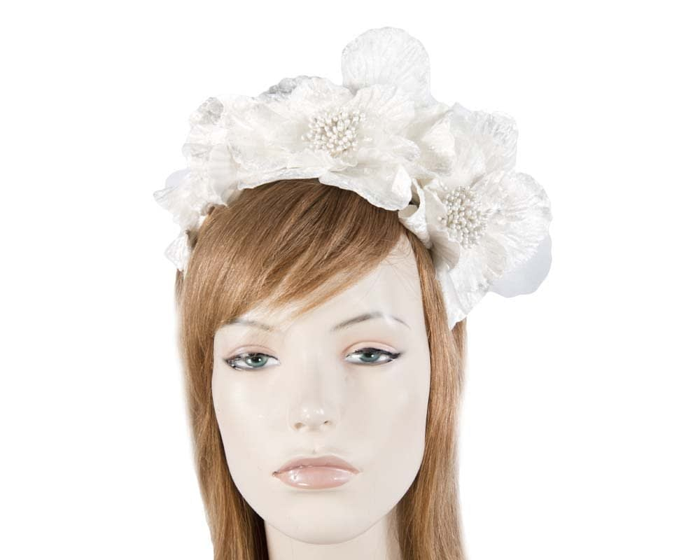 Cream Flower Fascinator Headband