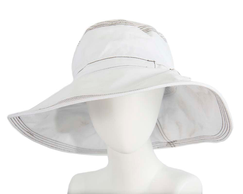 White ladies summer hat Cancer Council UPF50+