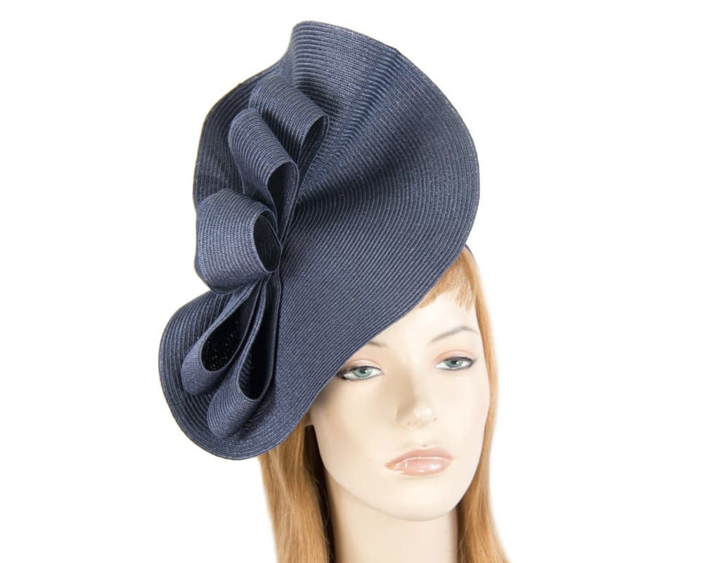Large navy spring racing fascinator by Max Alexander