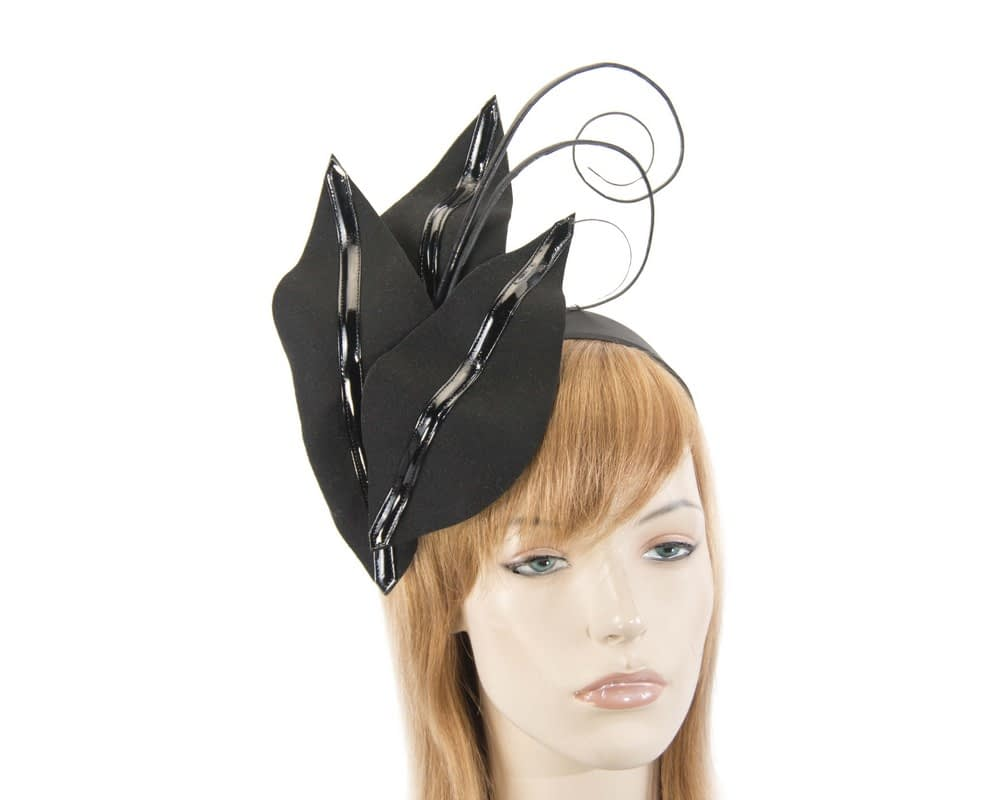Black felt winter fascinator