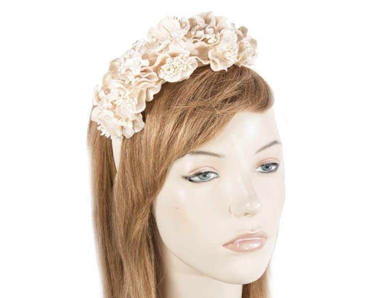 Nude flower headband racing fascinator