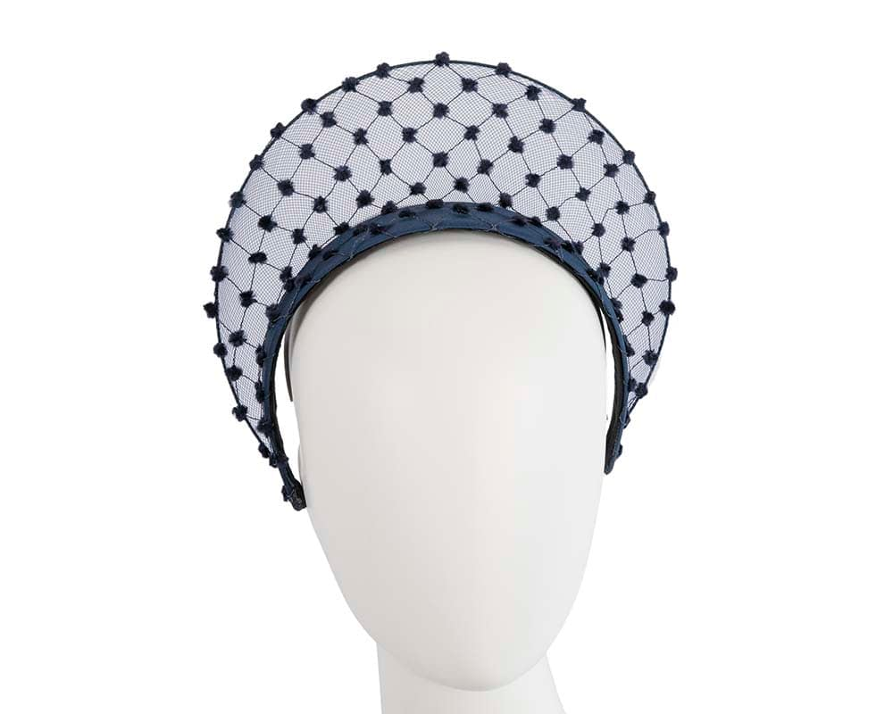 Exclusive navy crown racing fascinator