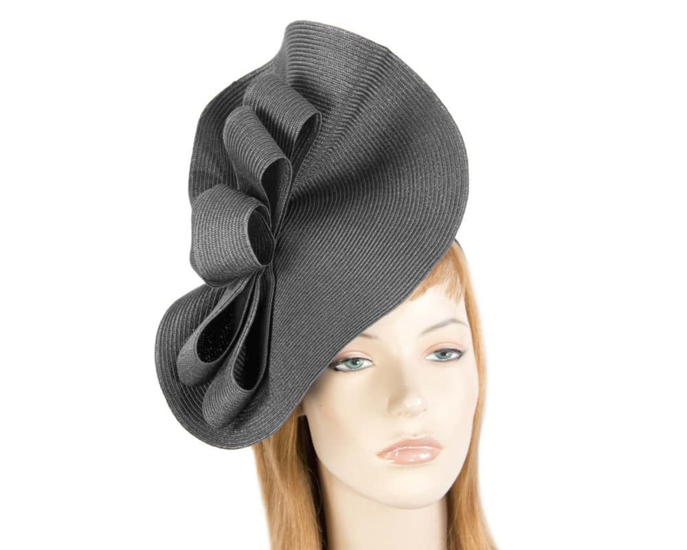 Large black spring racing fascinator by Max Alexander