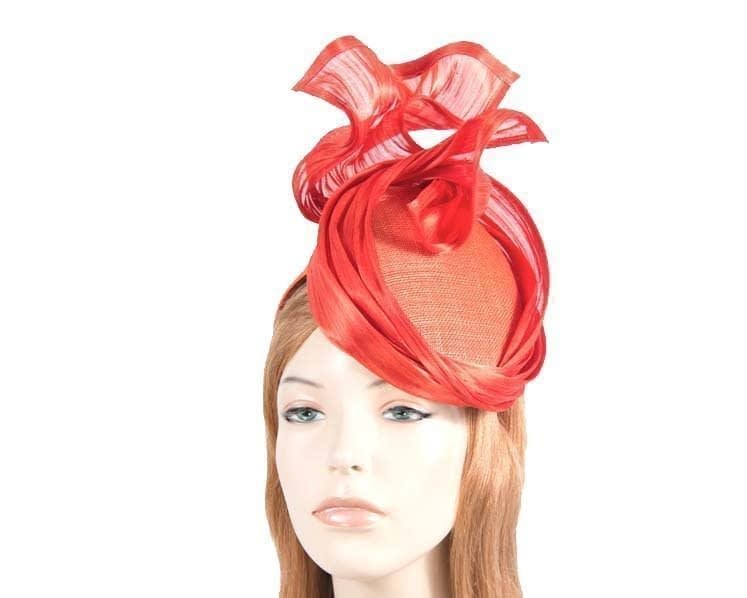 Bespoke orange fascinator