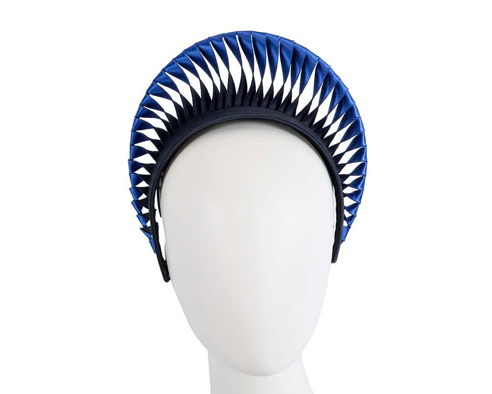 Exclusive royal blue & navy crown fascinator