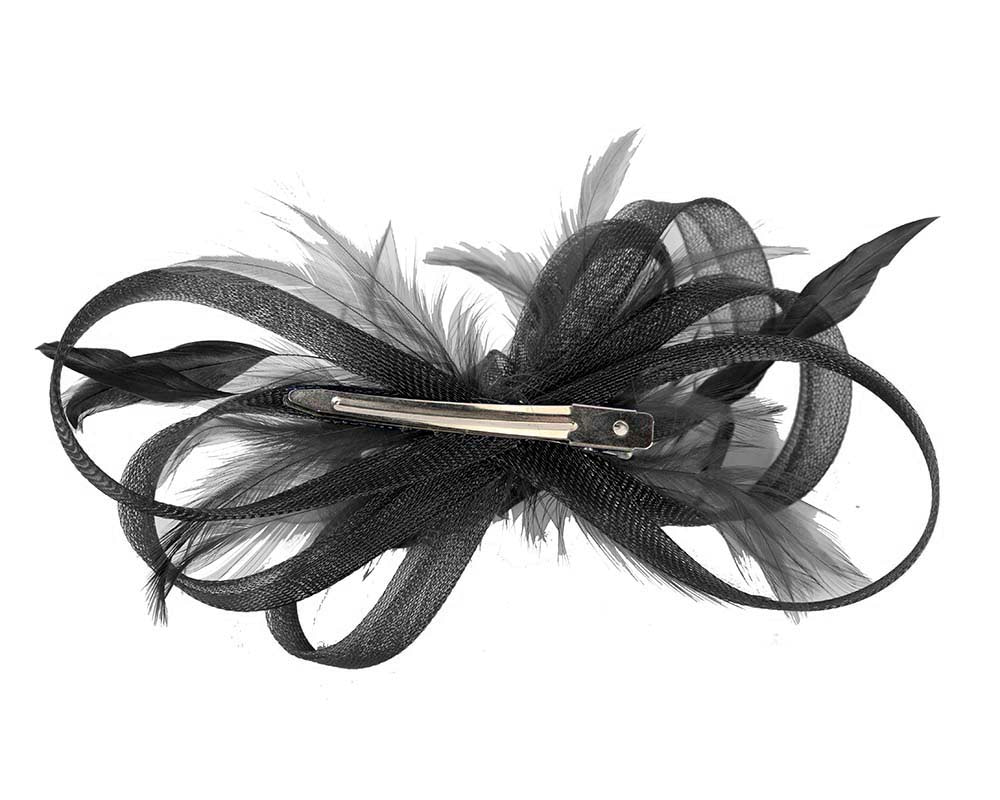 Custom made black fascinator by Cupids Millinery
