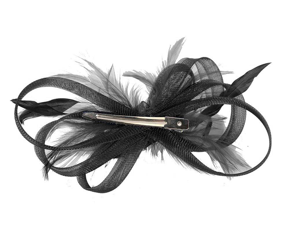 Custom made black fascinator by Cupids Millinery