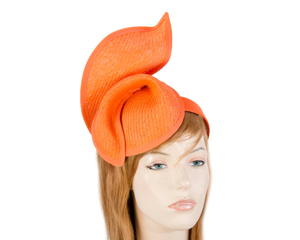 Orange fashion pillbox fascinator hat for races Max Alexander online in Aus MA564O