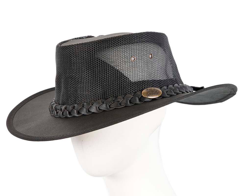 Black Australian Kangaroo Leather Cooler Jacaru Hat