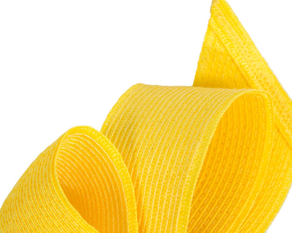Large yellow bow racing fascinator by Max Alexander