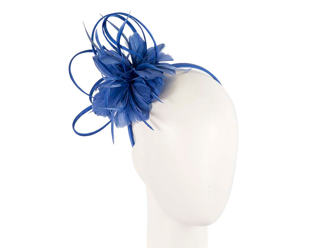 Royal Blue feather racing fascinator