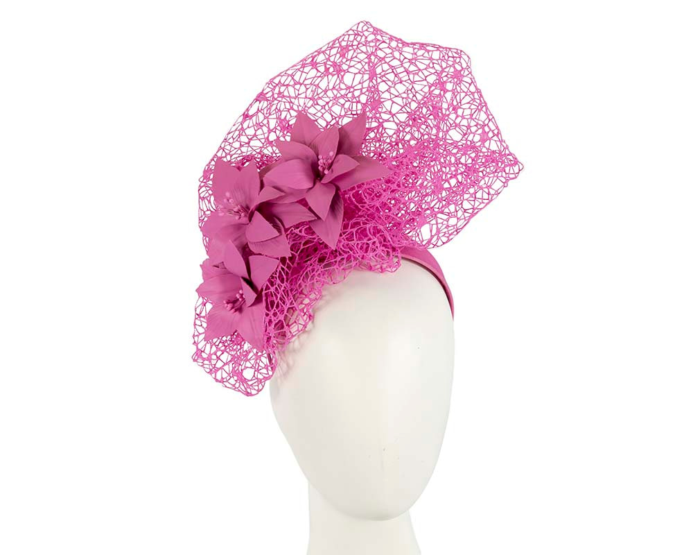 Staggering fuchsia racing fascinator by Fillies Collection