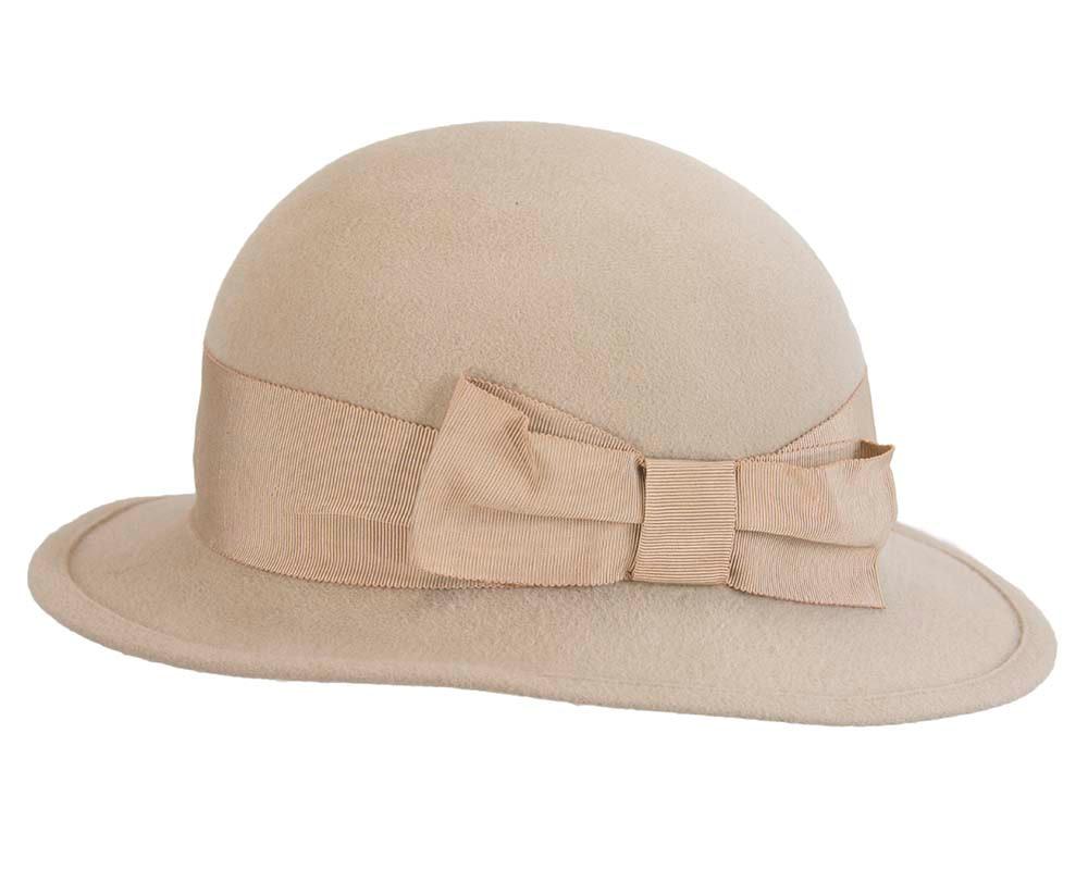 Exclusive beige rabbit fur hat