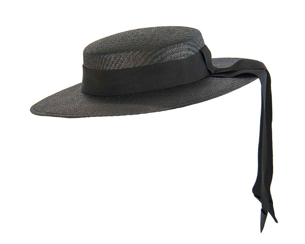 Black boater hat by Max Alexander