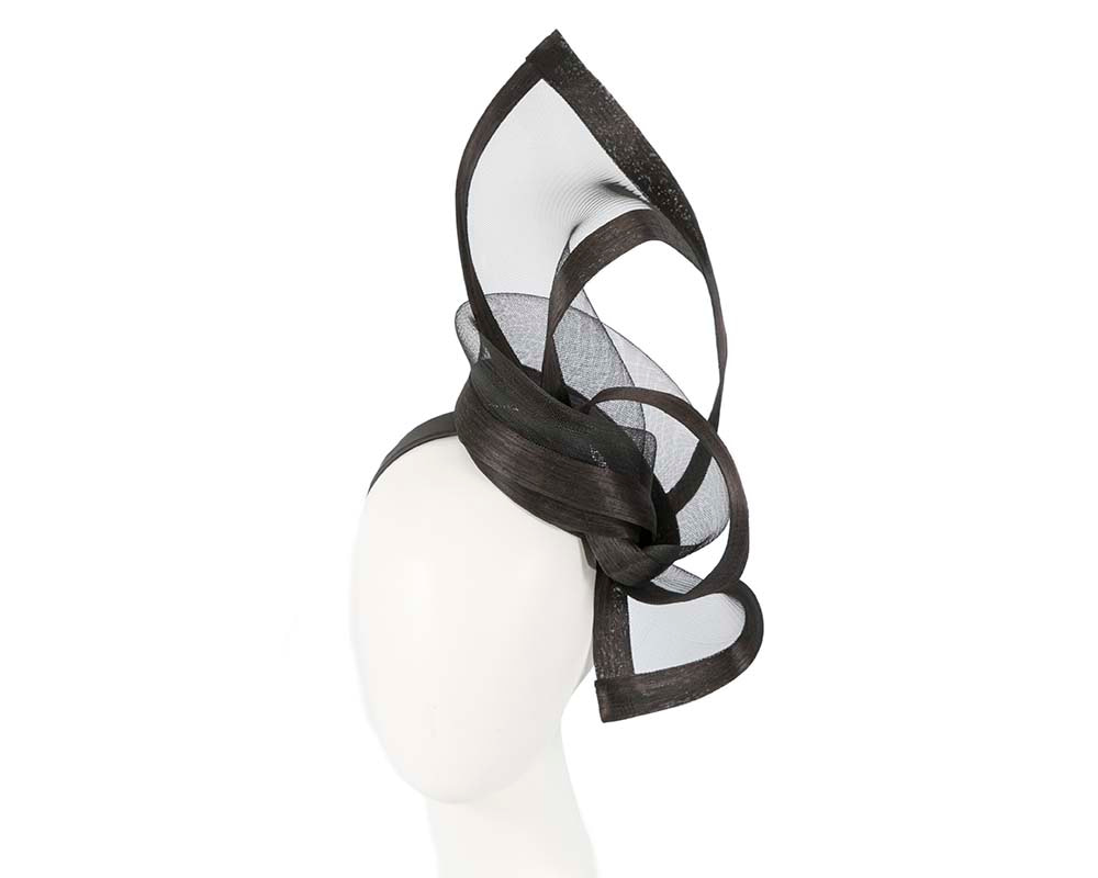 Black edgy racing fascinator by Fillies Collection
