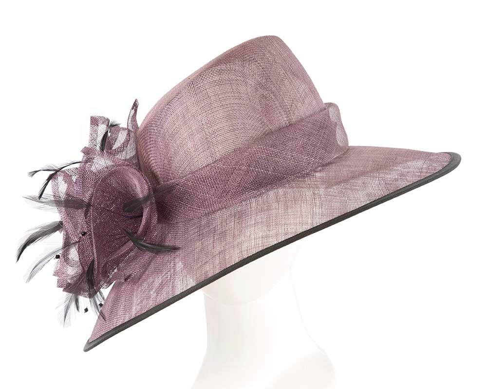 Large Purple Ladies Fashion Racing Hat by Cupids Millinery