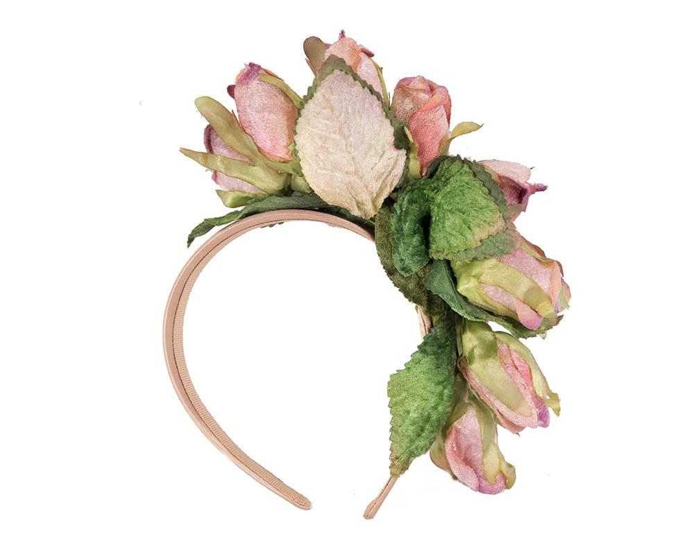 Lilac rose flower headband fascinator by Max Alexander