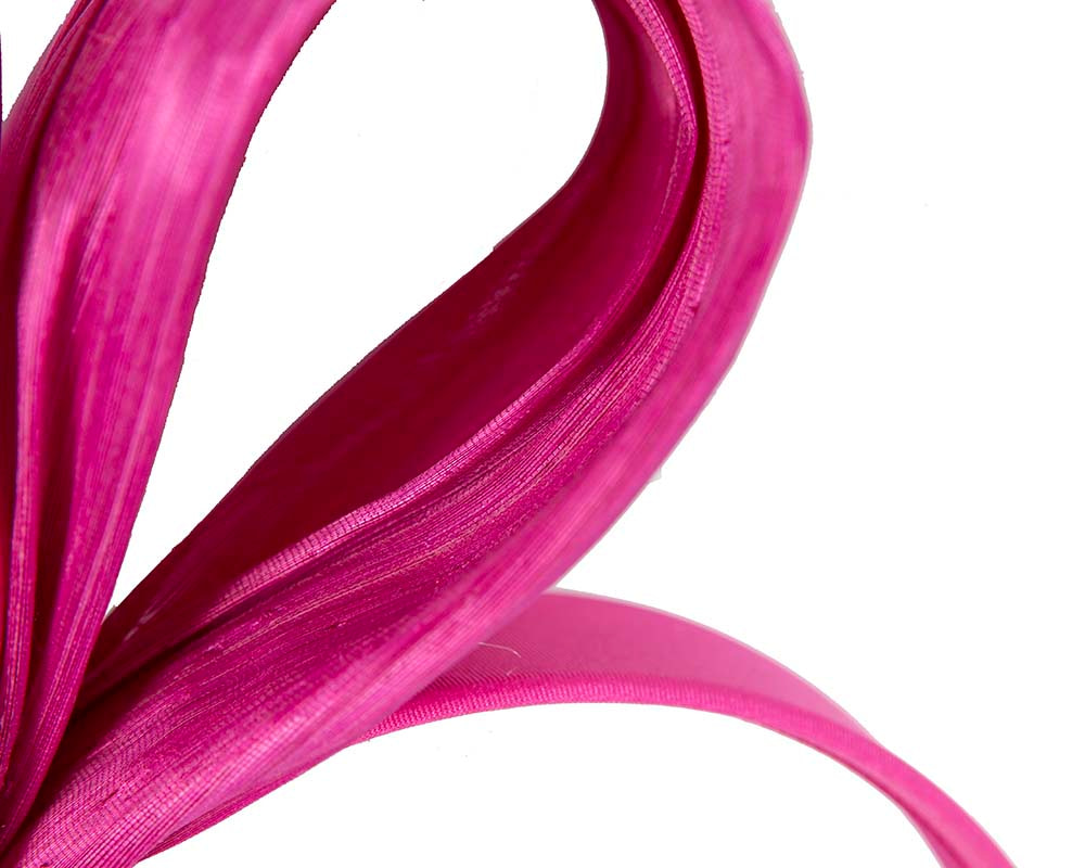 Exclusive fuchsia silk abaca bow by Fillies Collection