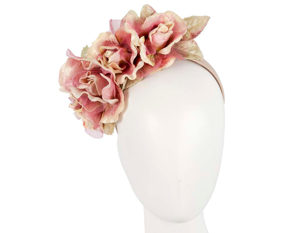 Pink flower headband fascinator by Max Alexander