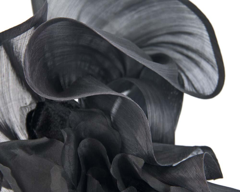 Bespoke large black fascinator