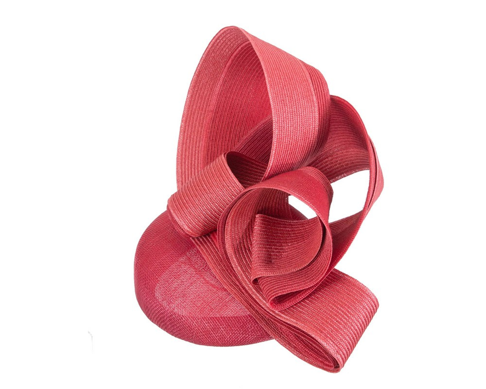 Stunning red racing fascinator by Fillies Collection