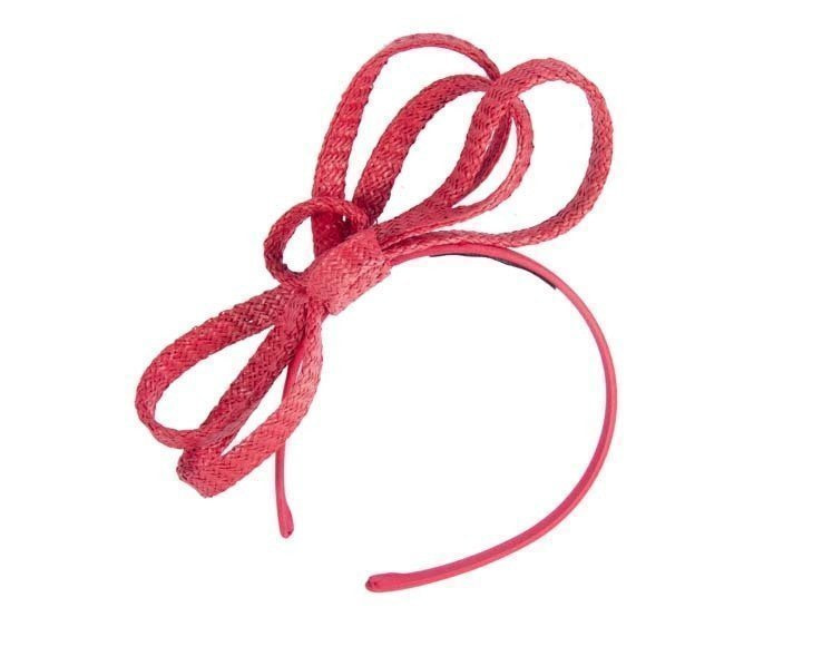 Red loops on headband
