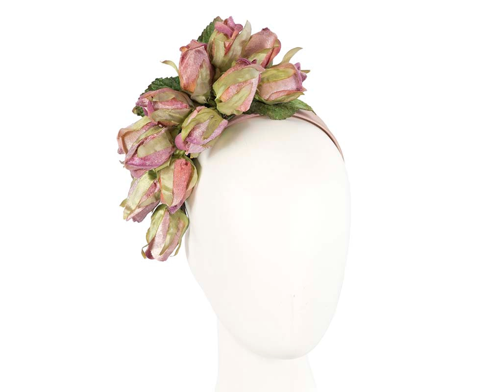Lilac rose flower headband fascinator by Max Alexander