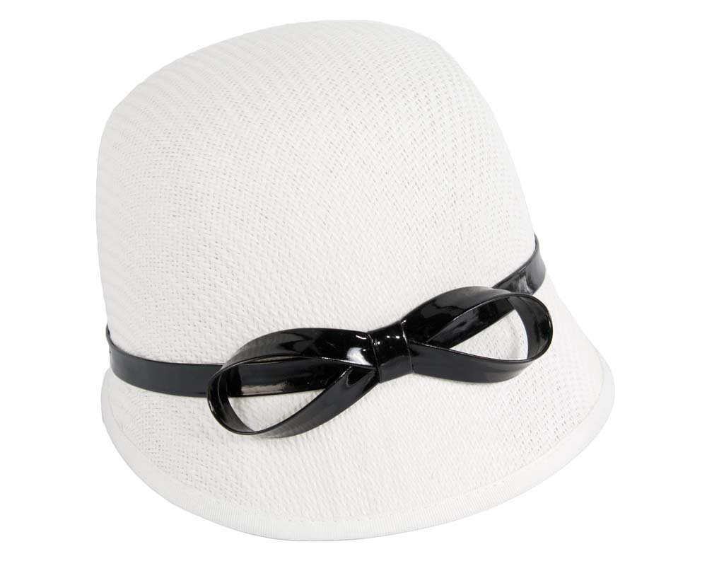 White ladies fashion cloche hat for races Max Alexander online in Aus MA555W