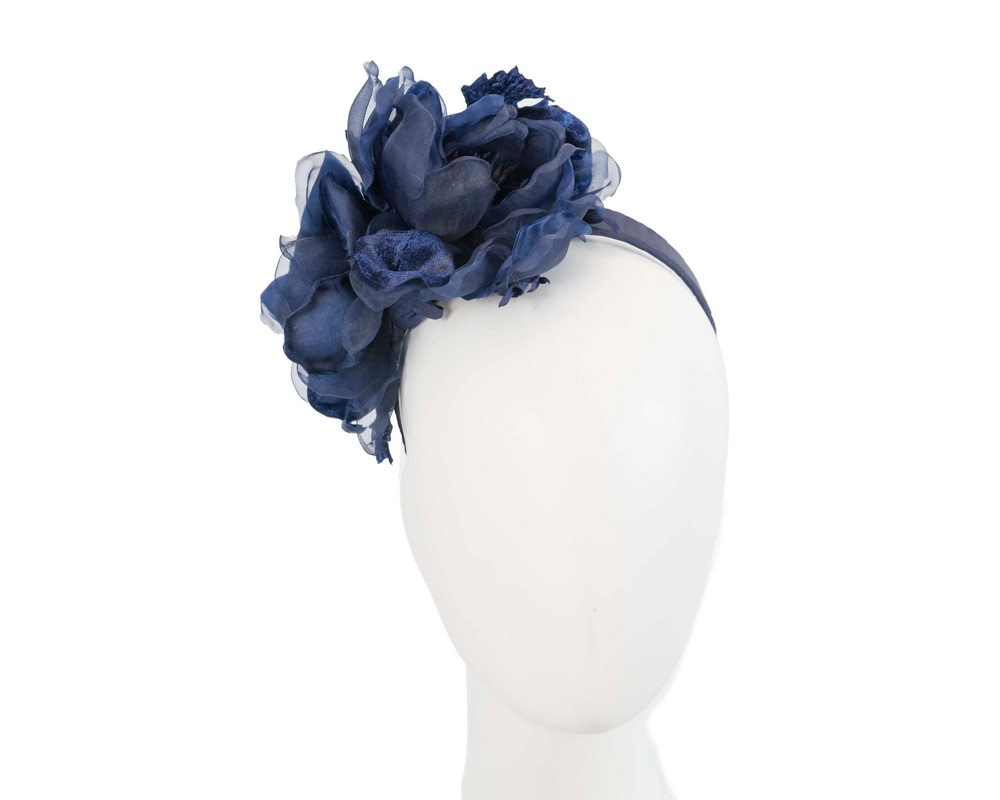 Navy flower fascinator by Fillies Collection