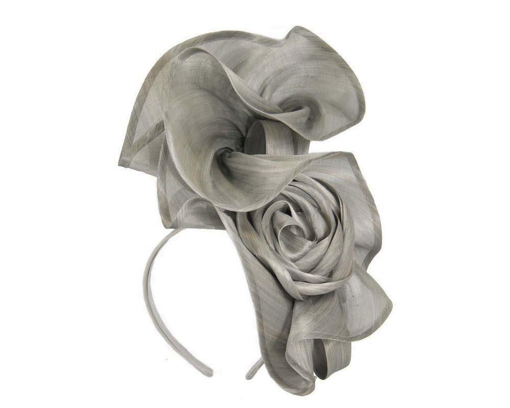 Twisted silver designers fascinator by Fillies Collection