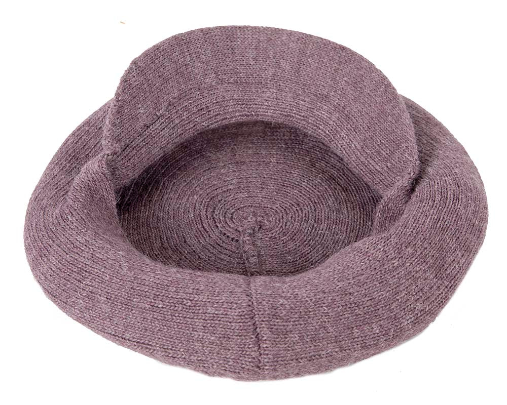 Classic woven eggplant shade cap by Max Alexander