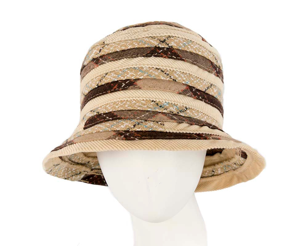 Beige ladies casual bucket hat