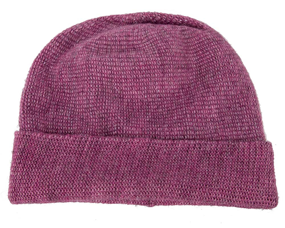 European made woven purple beanie