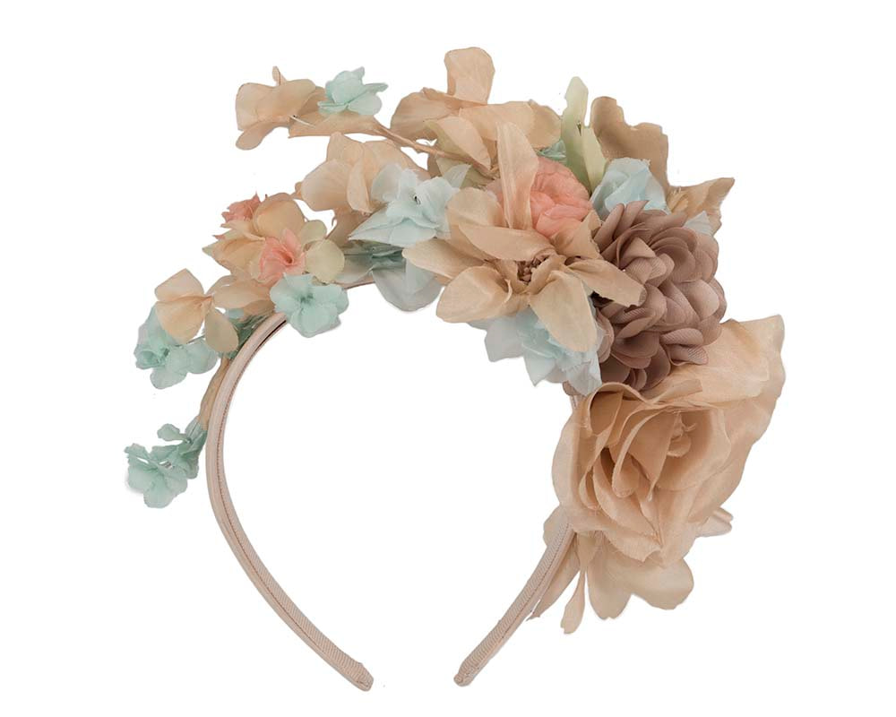 Exclusive silk flower headband fascinator