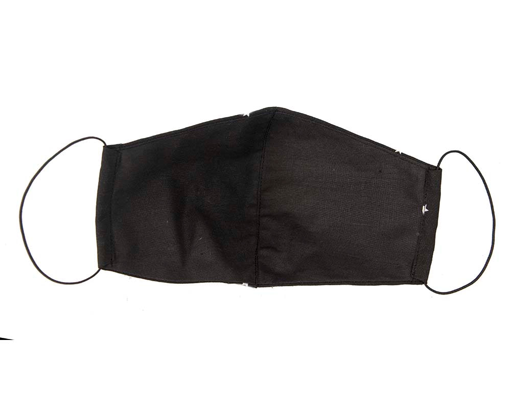 Comfortable black re-usable face mask