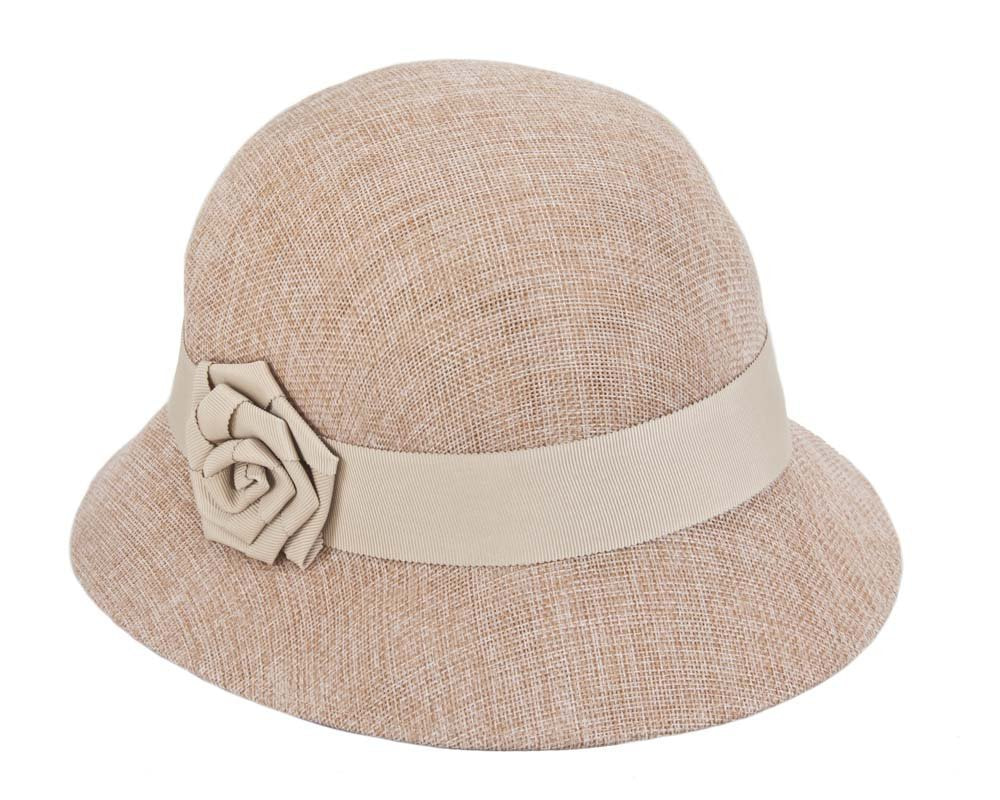 Nude cloche hat by Max Alexander