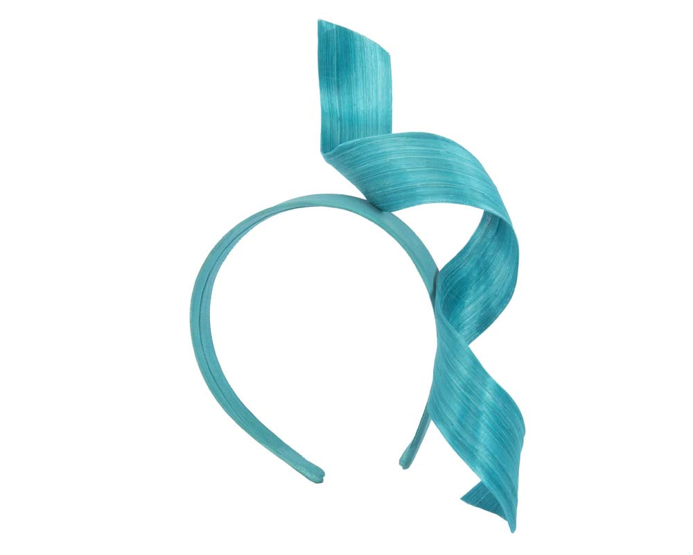 Turquoise twist fascinator headband
