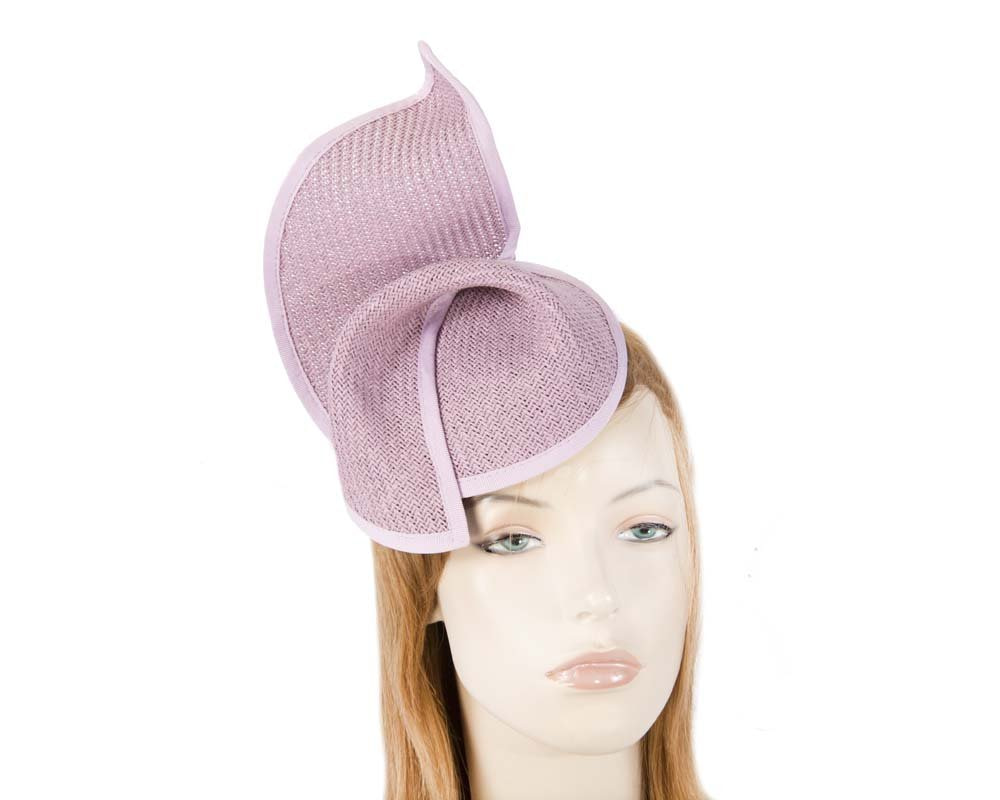 Lilac fashion pillbox fascinator hat for races Max Alexander MA564L