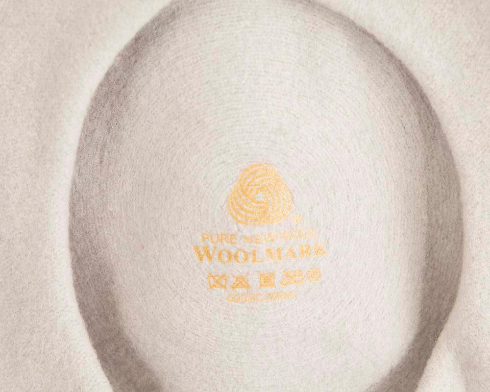 Silver wool WOOLMARK french beret