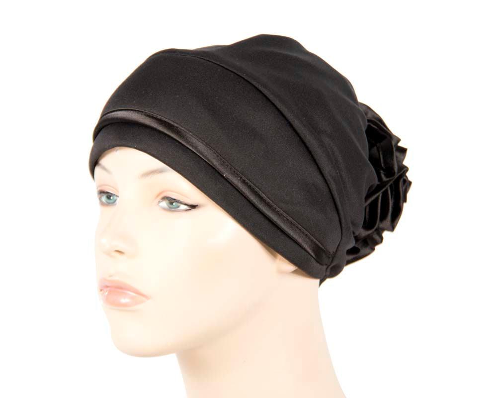 Black turban muslim headscarf